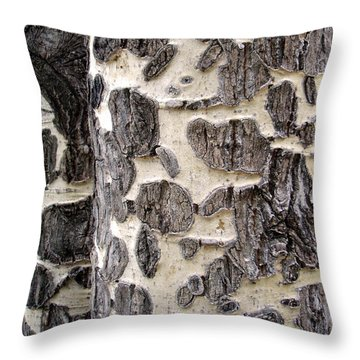 Aspen Scars Throw Pillow