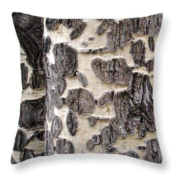 Aspen Scars Throw Pillow