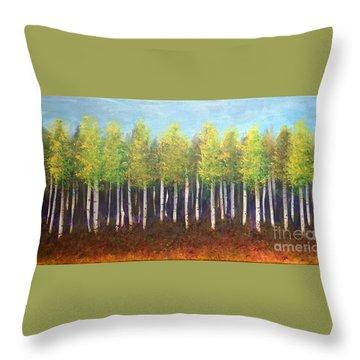Aspen Song Throw Pillow