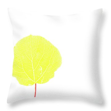 Aspen Yellow Throw Pillow