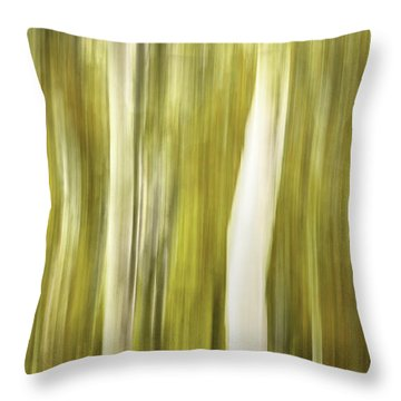 Aspens And Golden Foliage Abstract Throw Pillow