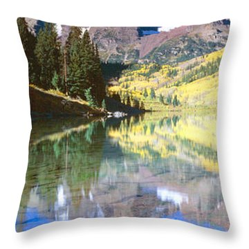 Aspens And Morning Light, Maroon Bells Throw Pillow
