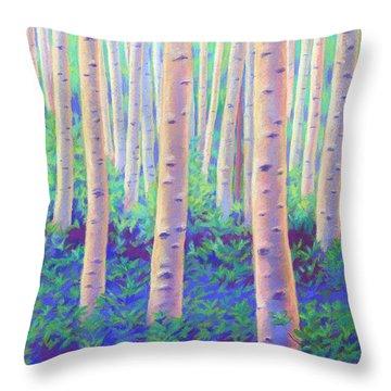 Aspens In Aspen Throw Pillow