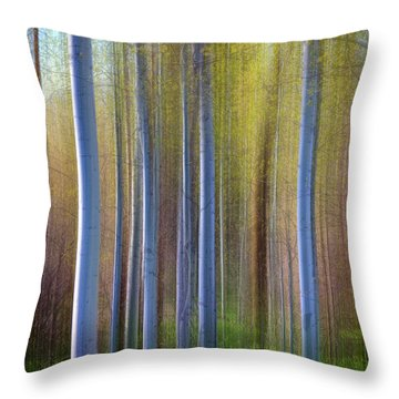 Aspens In Springtime Throw Pillow