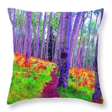Aspens In Wonderland Throw Pillow