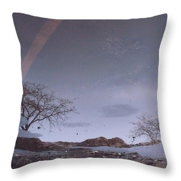 Asphalt Reflection I Throw Pillow by Anna Villarreal Garbis