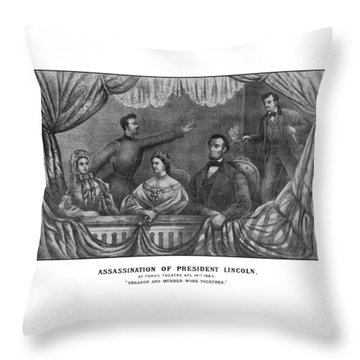 Assassination Of President Lincoln Throw Pillow