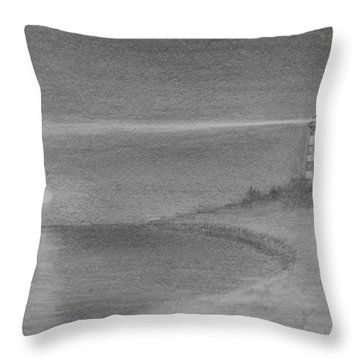 Assateague Light At Night Throw Pillow