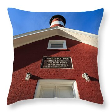 Assateague Light Throw Pillow