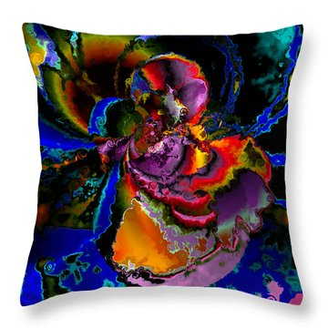 Assault By The Blues Throw Pillow