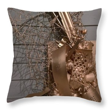 Assemblage #12918 Throw Pillow