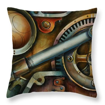 'assembled' Throw Pillow by Michael Lang