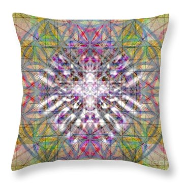 Assent From The Womb In The Flower Tree Of Life Throw Pillow by Christopher Pringer