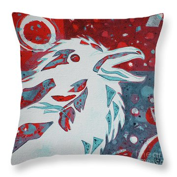 Assertion Throw Pillow by Cynthia Lagoudakis