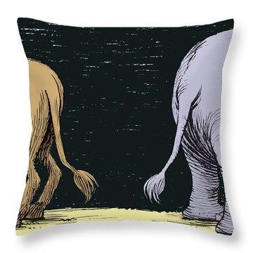 Asses Throw Pillow