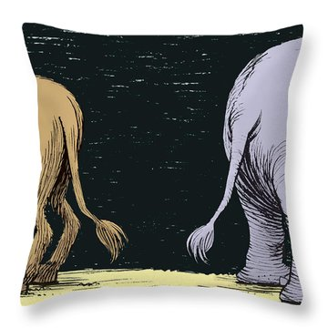 Asses Throw Pillow