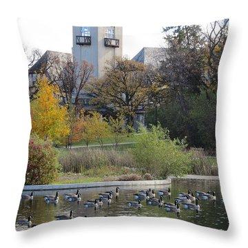 Assiniboine Park Pavilion Throw Pillow by Mary Mikawoz