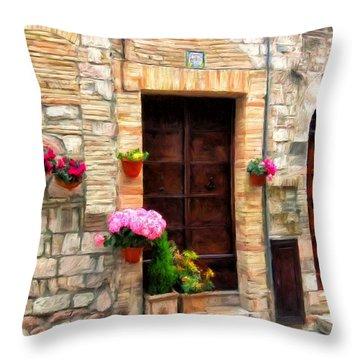 Assisi Doorways Throw Pillow