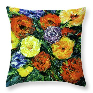 Assorted Flowers #191 Throw Pillow by Donald k Hall