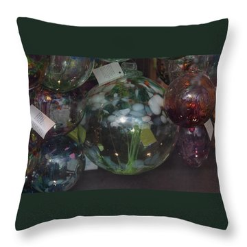Assorted Witching Balls Throw Pillow by Suzanne Gaff