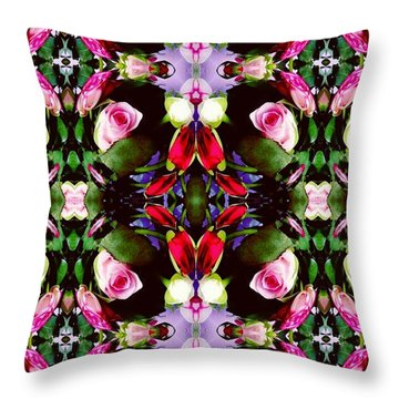 Assortment Of Flower  Throw Pillow