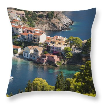 Assos In Greece Throw Pillow