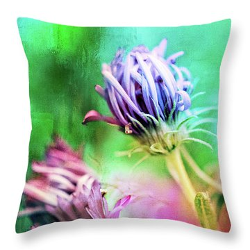 Asters Gone Wild 2 Throw Pillow