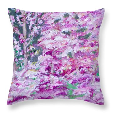 Astilbes Throw Pillow