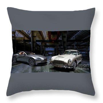Aston Martin Db5 Db11 Throw Pillow