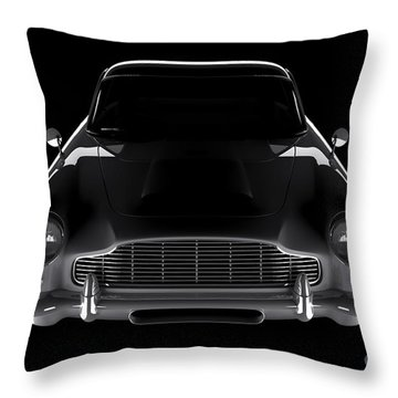 Aston Martin Db5 - Front View Throw Pillow