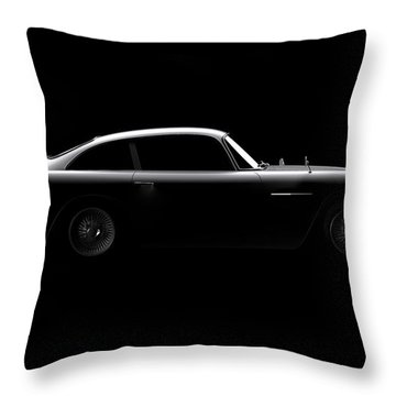 Aston Martin Db5 - Side View Throw Pillow