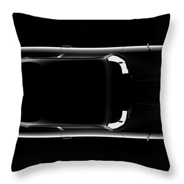 Aston Martin Db5 - Top View Throw Pillow