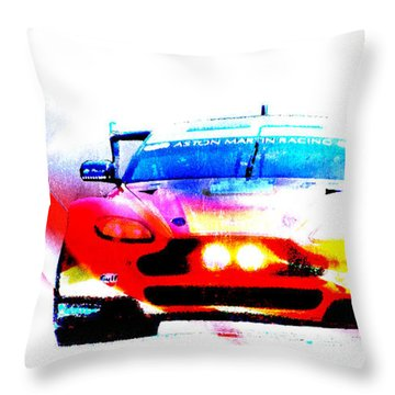 Aston Martin Racing V8 Aston Martin Vantage Gte Throw Pillow