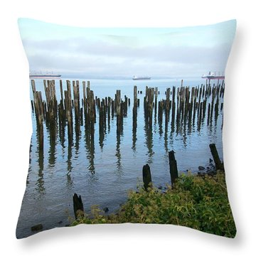 Astoria Ships  Throw Pillow