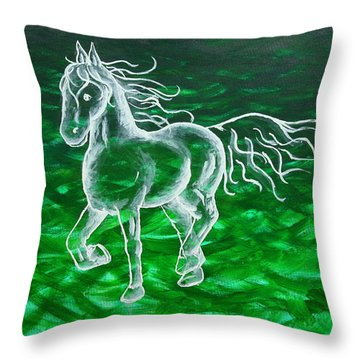 Astral Horse Throw Pillow