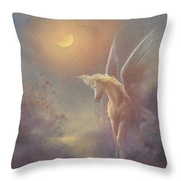 Astral Pegasus Throw Pillow by Jack Shalatain