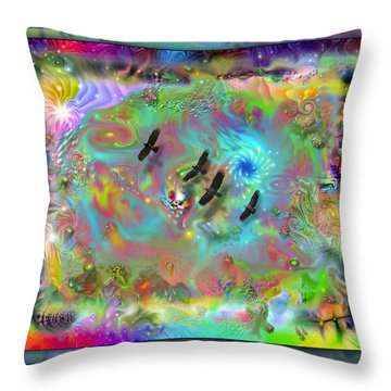 Astral Vision Throw Pillow