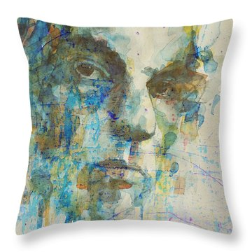 Throw Pillow featuring the mixed media Astral Weeks by Paul Lovering