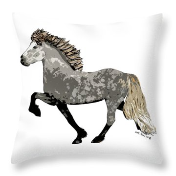 Throw Pillow featuring the painting Astrid by Shari Nees