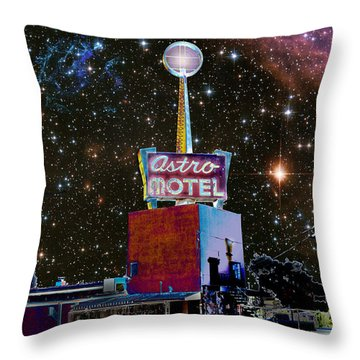 Throw Pillow featuring the photograph Astro Motel by Jim and Emily Bush