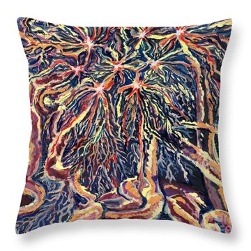 Astrocytes Microbiology Landscapes Series Throw Pillow by Emily McLaughlin