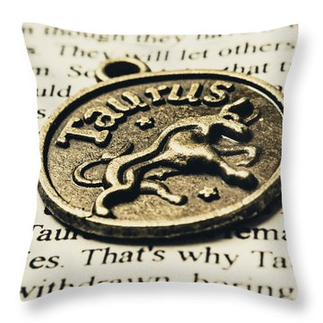 Astrological Definition In Taurus Throw Pillow