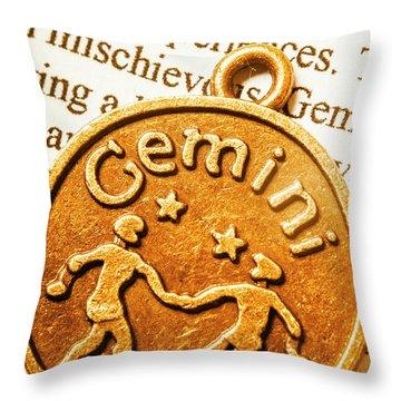 Astrological Gemini Throw Pillow