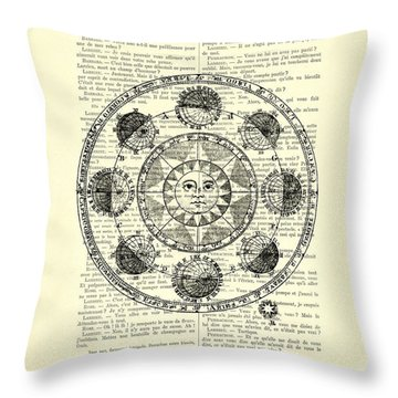 Astrology Chart, Solar System Throw Pillow
