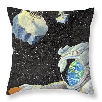 Astronaut Disc Golf Throw Pillow