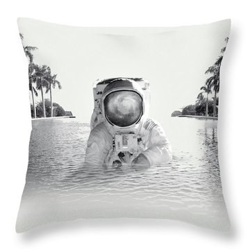 Astronaut Throw Pillow by Fran Rodriguez