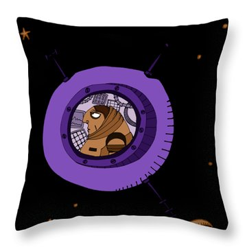 Astronaut In Deep Space Throw Pillow