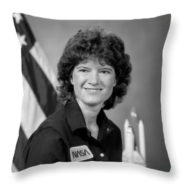 Astronaut Sally Ride  Throw Pillow by War Is Hell Store
