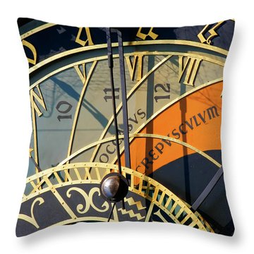 Astronomical Clock Prague Throw Pillow