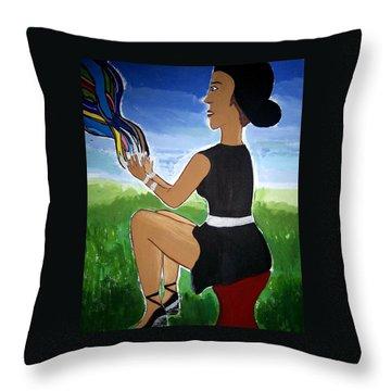 Asua's Creation - Painting Throw Pillow